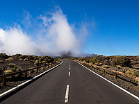 Road in Teide national park, Tenerife, Canary islands (UNESCO World Heritage List, 2007). Spain<br />