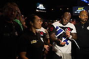 LAS VEGAS, NV - JULY 7:  Derrick Lewis leaves the Octagon after defeating Roy Nelson during UFC Fight Night at MGM Grand Garden Arena on July 7, 2016 in Las Vegas, Nevada. (Photo by Cooper Neill/Zuffa LLC/Zuffa LLC via Getty Images) *** Local Caption *** Derrick Lewis