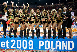 Cheerleaders Red Foxes, Ukraine at the Eurobasket 2009, on September 20, 2009, in Arena Spodek, Katowice, Poland.  Spain won, Serbia placed second, Greece third and Slovenia fourth. (Photo by Vid Ponikvar / Sportida)