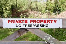 Private property sign ,