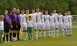 Republic of Ireland's U16 who lined out against Northern Ireland at the Uefa development tournament fixture at United park Westport.<br /> Pic Conor McKeown