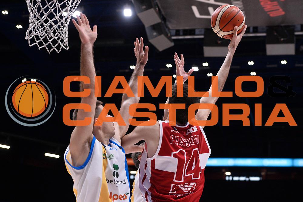 Davide Pascolo<br /> EA7 Emporio Armani Olimpia Milano - Betaland Orlandina Capo d Orlando<br /> Lega Basket Serie A 2016/2017<br /> Playoff Quarti di Finale Gara 2<br /> Foto Ciamillo - Castoria