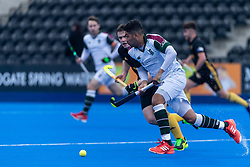 Surbiton's Arjan Drayton-Chana. Surbiton v Beeston - Men's Hockey League Finals, Lee Valley Hockey & Tennis Centre, London, UK on 28 April 2018. Photo: Simon Parker
