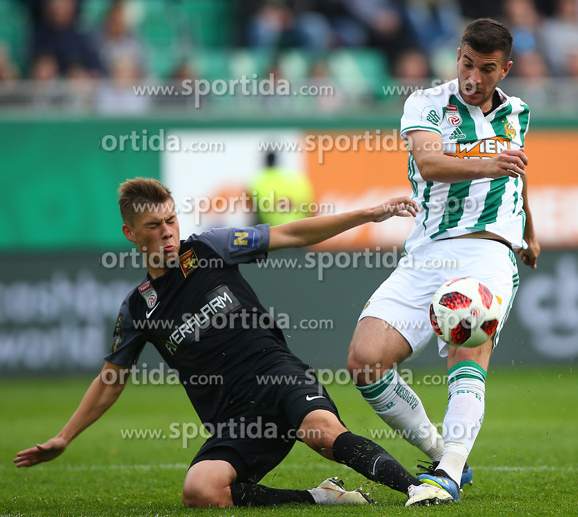 28.10.2018, Allianz Stadion, Wien, AUT, 1. FBL, SK Rapid Wien vs FC Flyeralarm Admira, 12. Runde, im Bild Lukas Malicsek (FC Flyeralarm Admira) und Andrija Pavlovic (SK Rapid Wien) // during Austrian Football Bundesliga Match, 12th Round, between SK Rapid Vienna and FC Flyeralarm Admira at the Allianz Arena, Vienna, Austria on 2018/10/28. EXPA Pictures © 2018, PhotoCredit: EXPA/ Thomas Haumer