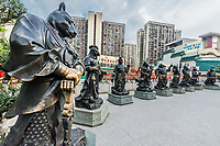 Chinese Zodiac statues at Sik Sik Yuen Wong Tai Sin Temple Kowloon in Hong Kong
