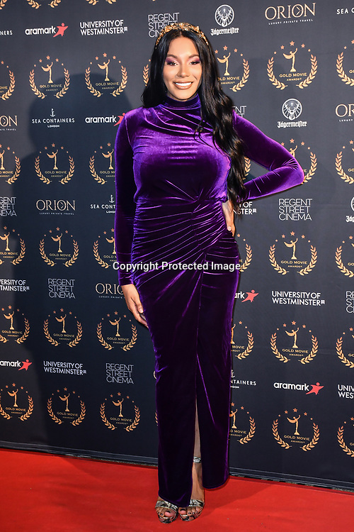 Munroe Bergdorf arrivers at Gold Movie Awards at Regents Street Theatre, on 9th January 2020, London, UK.