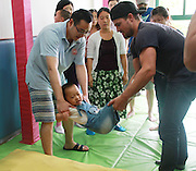 SHANGHAI, CHINA - JUNE 28: (CHINA OUT) <br /> <br /> Canadian Actor Stephen Amell Visits Shanghai<br /> <br /> Canadian Actor Stephen Amell visits a kindergarten on June 28, 2013 in Shanghai, China. <br /> ©Exclusivepix