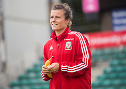 NEWPORT, WALES - Tuesday, September 20, 2016: Wales' Hayley Ladd arrives at Rodney Parade ahead of the UEFA Women's Euro 2017 Qualifying Group 8 match against Austria. (Pic by Laura Malkin/Propaganda)