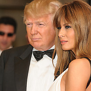 Donald Trump and Melania Trump at the 2011White House Correspondents Dinner at the Washington Hilton. Photo by Kyle Gustafson