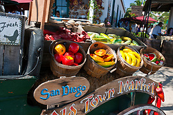 Props in the back of an old truck for the San Diego Old Town Market, Old Town San Diego, California, United States of America