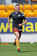 Allan Campbell (#8) of Motherwell FC warms up before the Ladbrokes Scottish Premiership match between St Johnstone and Motherwell at McDiarmid Stadium, Perth, Scotland on 11 May 2019.