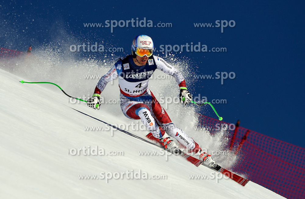 13.02.2017, St. Moritz, SUI, FIS Weltmeisterschaften Ski Alpin, St. Moritz 2017, alpine Kombination, Herren, Abfahrt, im Bild Carlo Janka (SUI) // Carlo Janka of Switzerland in action during his run of downhill for the men's Alpine combination of the FIS Ski World Championships 2017. St. Moritz, Switzerland on 2017/02/13. EXPA Pictures &copy; 2017, PhotoCredit: EXPA/ Sammy Minkoff<br /> <br /> *****ATTENTION - OUT of GER*****