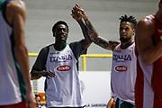 Awudu Abass, Daniel Hackett<br /> Raduno Nazionale Maschile Senior<br /> Allenamento pomeriggio<br /> Cagliari, 08/08/2017<br /> Foto Ciamillo-Castoria/ M. Brondi