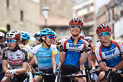 Gabrielle Pilote Fortin (CAN) gets a front row spot at the start of Emakumeen Bira 2018 - Stage 1, a 108 km road race starting and finishing in Legazpi, Spain on May 19, 2018. Photo by Sean Robinson/Velofocus.com