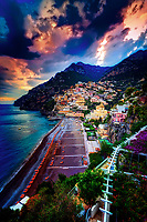 &ldquo;Dramatic sunset over Positano&rdquo;&hellip;<br />