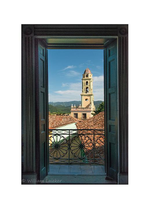 Balcony View from Iglesia Parroquial de la Santisima in Trinidad,Cuba