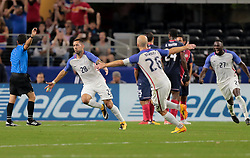 July 22, 2017 - Arlington, TX, USA - Arlington, TX - Saturday July 22, 2017: Clint Dempsey celebrates his goal during a 2017 Gold Cup Semifinal match between the men's national teams of the United States (USA) and Costa Rica (CRC) at AT&T stadium. (Credit Image: © John Dorton/ISIPhotos via ZUMA Wire)