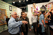 TONY SHAFRAZI; BEN STILLER, Vernissage. Opening of Art Basel Miami Beach. Convention Centre.  Miami Beach. 30 November 2010. -DO NOT ARCHIVE-© Copyright Photograph by Dafydd Jones. 248 Clapham Rd. London SW9 0PZ. Tel 0207 820 0771. www.dafjones.com.