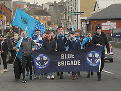 Rice College supporters out in Force at the Hogan Cup Final.<br /> Pic Conor McKeown