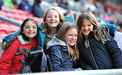Rugby supporters at Ashton Gate Stadium - Mandatory by-line: Paul Knight/JMP - 22/10/2017 - RUGBY - Ashton Gate Stadium - Bristol, England - Bristol Rugby v Doncaster Knights - B&I Cup