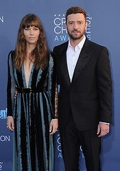 Jessica Biel, Justin Timberlake  bei der Verleihung der 22. Critics' Choice Awards in Los Angeles / 111216