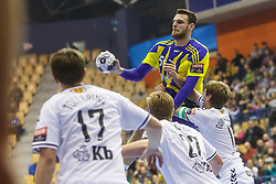 Mackovsek Borut #51 of RK Celje Pivovarna Lasko during handball match between RK Celje Pivovarna Lasko (SLO) and IFK Kristianstad (SWE) in Group phase of EHF Men's Champions League 2016/17, on February 11, 2017 in Arena Zlatorog, Celje, Slovenia. Photo by Grega Valancic