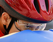 Meredith Zachary, 14, of Greece, in the gate at a local soapbox derby race on Lakeshore Boulevard in Irondequoit on Saturday, May 31, 2014. Eighty-two competitors raced in six divisions, with the winner of each division advancing to the world championships in Akron, Ohio.
