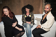 ALI RICHARDS; TERRY NIXON; LYALL HAKARAIA, Sarah Lucas- Scream Daddio party hosted by Sadie Coles HQ and Gladstone Gallery at Palazzo Zeno. Venice. 6 May 2015.