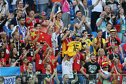 July 14, 2018 - St. Petersburg, Russia - July 14, 2018, St. Petersburg, FIFA World Cup 2018, Football match for the third place in the World Cup. Football match of Belgium - England at the stadium of St. Petersburg. Player of the national team fans; fans; spectators. (Credit Image: © Russian Look via ZUMA Wire)