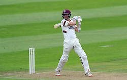 Somerset's Tom Cooper cuts the ball - Photo mandatory by-line: Harry Trump/JMP - Mobile: 07966 386802 - 21/08/15 - SPORT - CRICKET - LV County Championship Division One - Day One - Somerset v Worcestershire - The County Ground, Taunton, England.