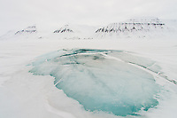 Icy landscape of Svalbard