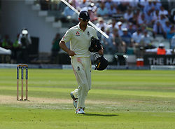 July 7, 2017 - London, United Kingdom - England's Alastair Cook .during 1st Investec Test Match between England and South Africa at Lord's Cricket Ground in London on July 07, 2017  (Credit Image: © Kieran Galvin/NurPhoto via ZUMA Press)