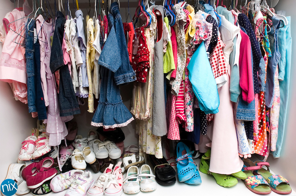 Childrens clothes at the clothes closet at Roberta United Methodist Church in Harrisburg. The church opened the clothing closet for those in need.