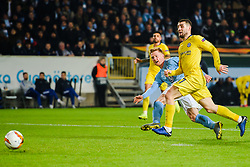 February 14, 2019 - MalmÅ, Sweden - 190214 Anders Christiansen of MalmÅ¡ FF scores 1-2 during the Europa league match between MalmÅ¡ FF and Chelsea on February 14, 2019 in MalmÅ¡..Photo: Petter Arvidson / BILDBYRN / kod PA / 92225 (Credit Image: © Petter Arvidson/Bildbyran via ZUMA Press)