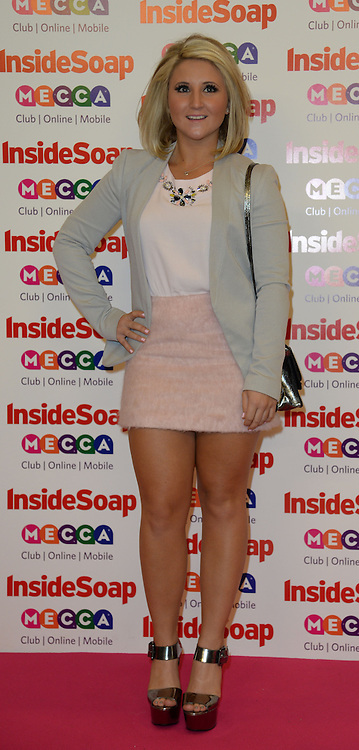 Inside Soap Awards.<br /> Jazmine Franks  arrives for the Inside Soap Awards, Ministry of Sound, London, United Kingdom,<br /> Monday, 21st October 2013. Picture by Andrew Parsons / i-Images