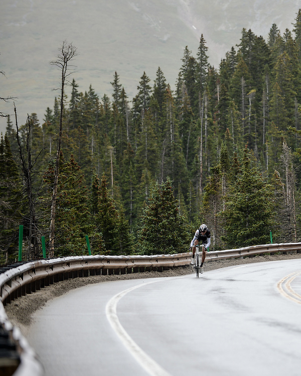 Laurent Didier solos over Hoosier Pass to win a very wet Stage 5 of the 2014 USA Pro Challenge.
