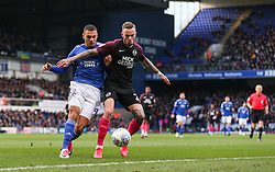 Kayden Jackson of Ipswich Town cant get past Joe Ward of Peterborough United - Mandatory by-line: Arron Gent/JMP - 01/02/2020 - FOOTBALL - Portman Road - Ipswich, England - Ipswich Town v Peterborough United - Sky Bet League One