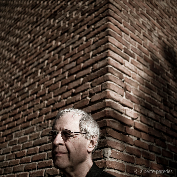 Charles Simic, Serbian-American poet, Pulitzer Prize for Poetry in 1990. Portrait in Madrid, Spain..