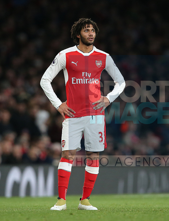 Arsenal's Mohamed Elneny in action during the Premier League match at the Emirates Stadium, London. Picture date October 26th, 2016 Pic David Klein/Sportimage