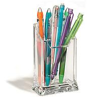 glass desktop pen and pencil holder