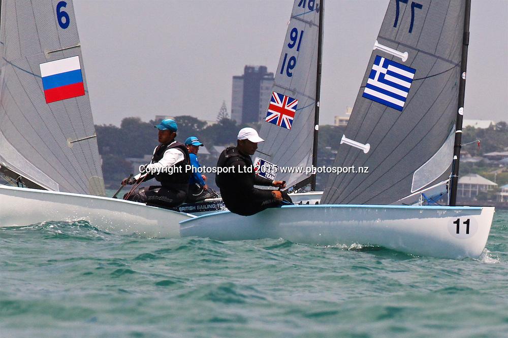 Race 6 Finn Gold Cup Takapuna -Ioannis Matakis GRE - Bow 11)