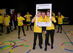 Pictured: Chef Jordan Docherty was joined by Oscar Murphy (13) and Laurel Brown (13) for a snap-chat image<br /> Inch by Inch for Scotland launched a major national obesity campaign today at Portobello High School. Chef Jordan Docherty was on hand to show how he turned his life around from drink and drugs in his early life with support from the campaign.  He was keen to show the school students that they could make healthy food on a budget and his version of a pot noodle made in five miutes went down well.    'Inch by Inch for Scotland' is a campaign aimed at reducing obesity amongst the population of Scotland by creating positive content aimed at teenagers and families to challenge them to take part in exercises or in preparing a healthier diet.<br /> <br /> The core idea for the campaign is to encourage teenagers and parents to do a small change or to take part in a small activity that will hopefully create an incremental change where people want to live healthier lives. Ultimately the goal is to change the culture of the nation, although we understand that we need to take small incremental steps at first – hence – 'Inch by Inch'.<br /> <br /> <br /> Ger Harley | EEm 7 September 2017