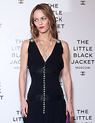 18.OCTOBER.2012. MOSCOW<br /> <br /> MILLA JOVOVICH AND VANESSA PARADIS ATTEND THE CHANEL LITTLE BLACK JACKET EXHIBITION HELD IN MOSCOW, RUSSIA.