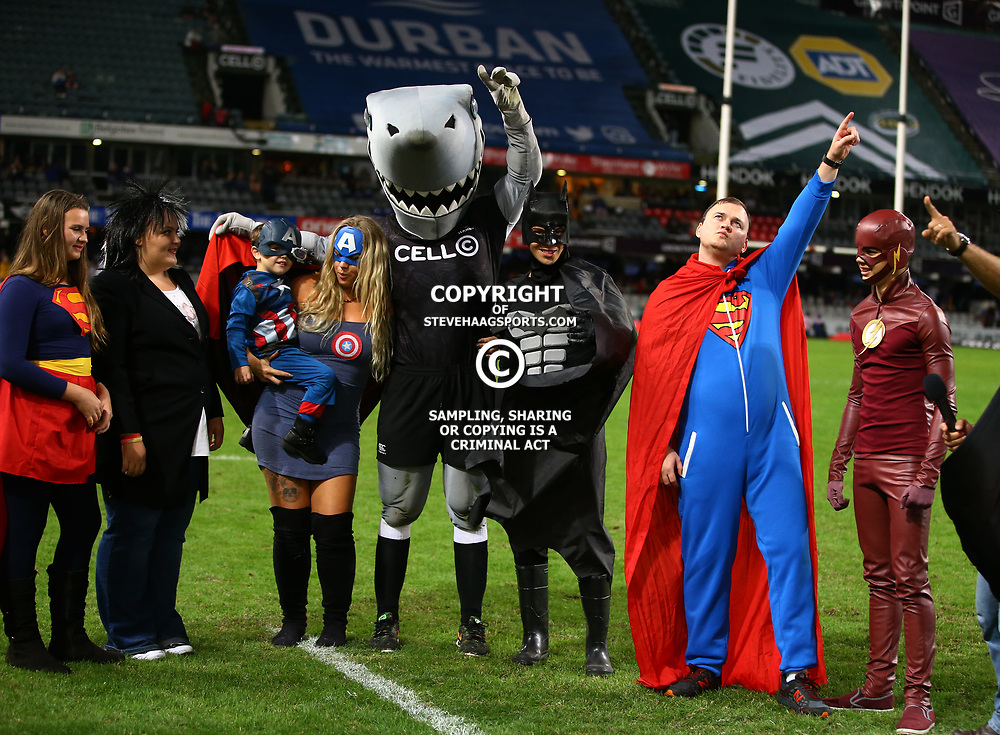 DURBAN, SOUTH AFRICA - MAY 27: Super fans during the Super Rugby match between Cell C Sharks and DHL Stormers at Growthpoint Kings Park on May 27, 2017 in Durban, South Africa. (Photo by Steve Haag/Gallo Images)