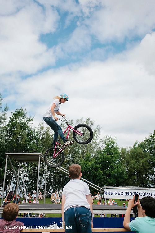 Royal Highland Show 2014. Clan BMX stunt team. PAYMENT TO CRAIG STEPHEN 07905 483532