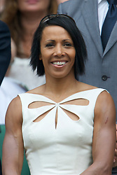 LONDON, ENGLAND - Saturday, June 26, 2010: Olympic medal winner Kelly Holmes in the Royal Box on Centre Court on day six of the Wimbledon Lawn Tennis Championships at the All England Lawn Tennis and Croquet Club. (Pic by David Rawcliffe/Propaganda)