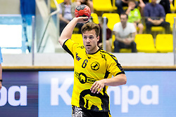 27.04.2018, BSFZ Suedstadt, Maria Enzersdorf, AUT, HLA, SG INSIGNIS Handball WESTWIEN vs Bregenz Handball, Viertelfinale, 1. Runde, im Bild Lukas Frühstück (Bregenz Handball) // during Handball League Austria, quarterfinal, 1 st round match between SG INSIGNIS Handball WESTWIEN and Bregenz Handball at the BSFZ Suedstadt, Maria Enzersdorf, Austria on 2018/04/27, EXPA Pictures © 2018, PhotoCredit: EXPA/ Sebastian Pucher