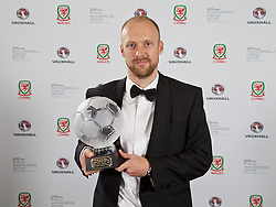 CARDIFF, WALES - Monday, October 5, 2015: FAW Fair Play Award winner Welsh Premier League's The New Saints during the FAW Awards Dinner Dinner at Cardiff City Hall. (Pic by David Rawcliffe/Propaganda)