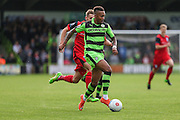 Forest Green Rovers Keanu Marsh-Brown(7) runs forward during the Vanarama National League match between Forest Green Rovers and Barrow at the New Lawn, Forest Green, United Kingdom on 1 October 2016. Photo by Shane Healey.