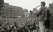 Tom Robinson performs, Anti Clause 28 Demonstration, Manchester, 1988